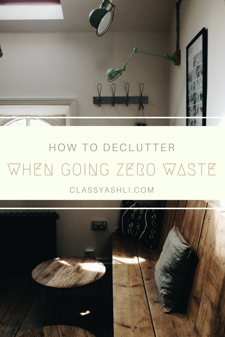 How to declutter when going zero waste: Deciding what to keep when going zero waste can be kind of tricky. Find out how you can declutter your home even if you're on a zero waste journey.
