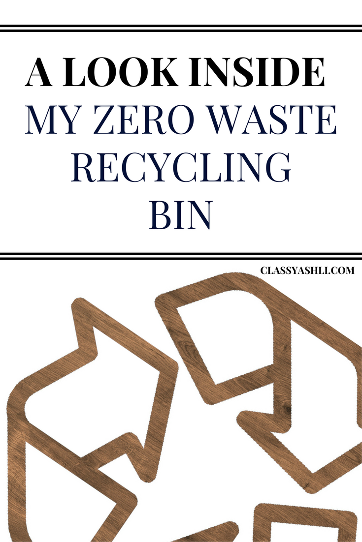 It's normal to see what's inside a zero waster's trash can or trash jar, but I'm here to show you what's been collecting in my zero waste recycling bin.