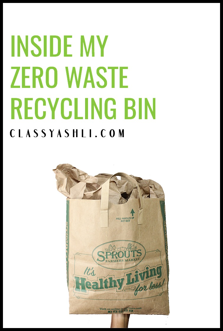 Trash jars can be misleading and an overwhelming goal to reach. The recycling bin, on the other hand, can show a more realistic viewpoint of a zero waster's consumption habits. Here's what's in mine!