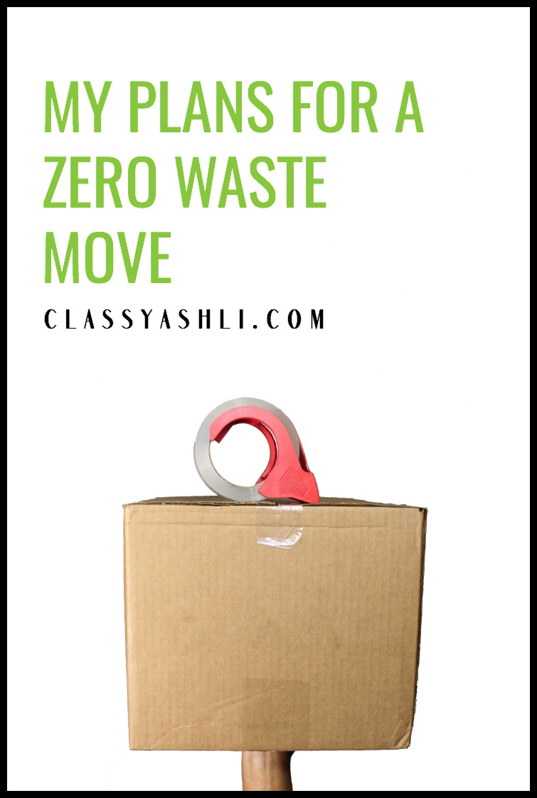 As if moving isn't hard enough as it is! Here's are my plans to create as little waste as possible while moving to a new place.