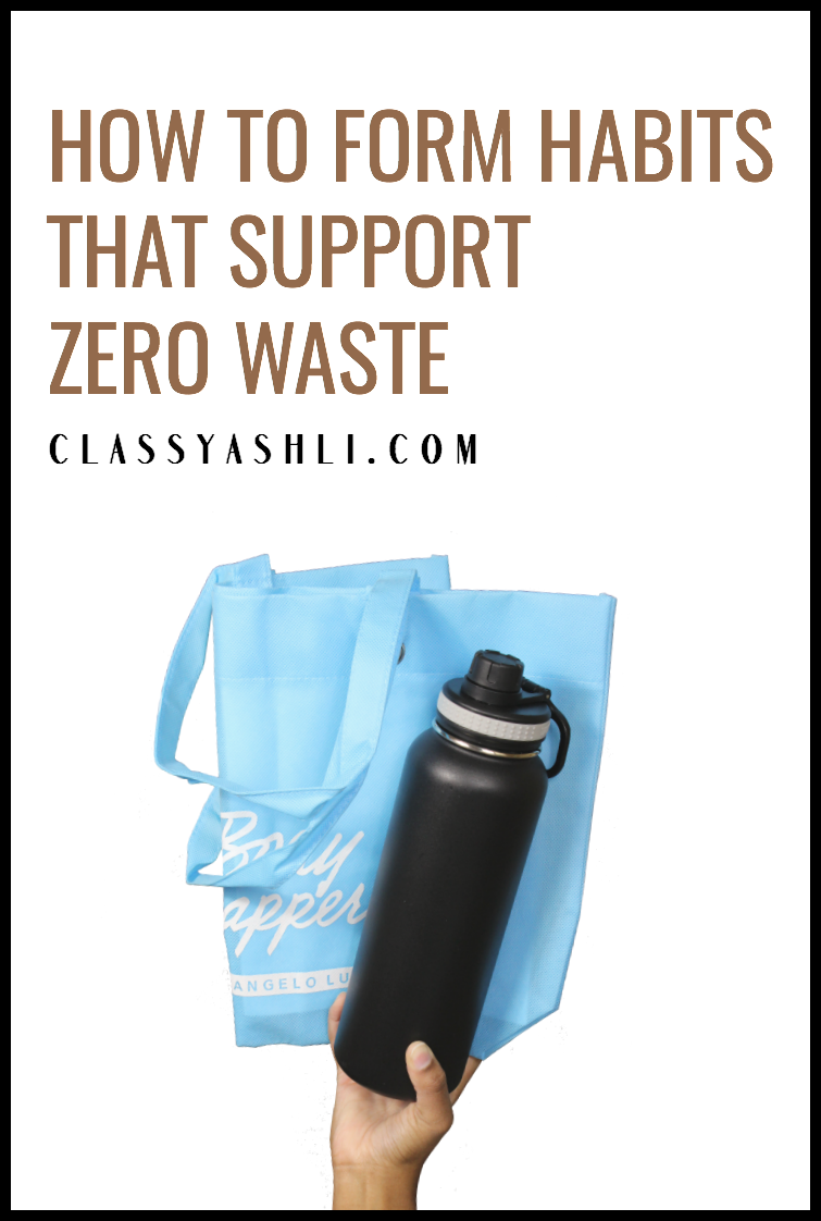 "It can be hard to remember to do things the right way when going zero waste. That's why I wanted to share with you how I turn these ""hard to do"" things into ""easy to do"" habits!"